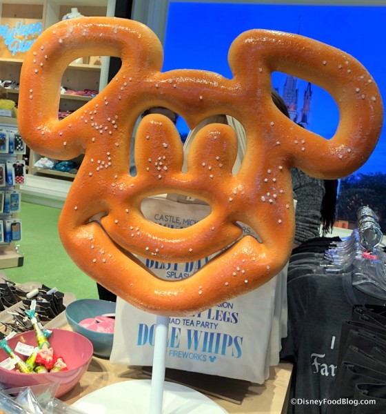 Giant Mickey Pretzel at Disney Style Store