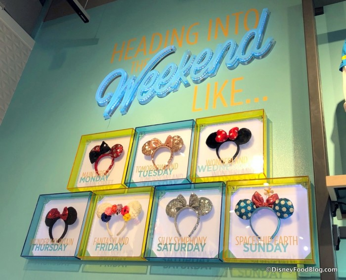 Minnie Ears Display at Disney Style Store