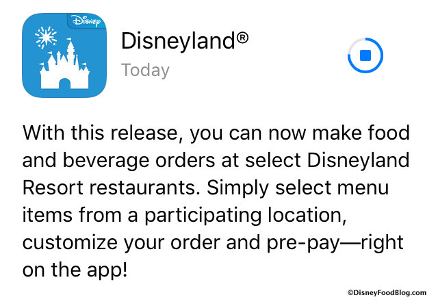 Disneyland App Update screenshot
