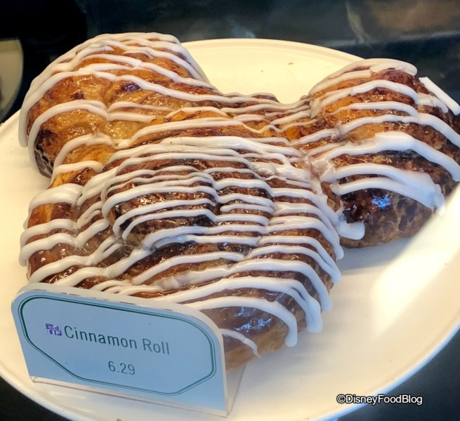 Colossal Mickey Cinnamon Roll at Fountain View