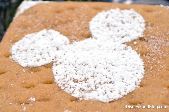 Mickey in powdered sugar form!