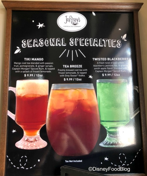 Joffrey's Seasonal Drinks