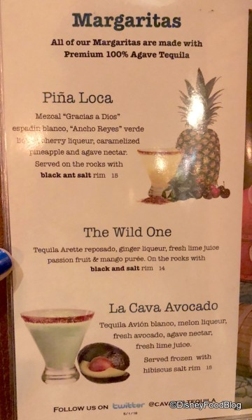 Cinco de May Menu at La Cava del Tequila
