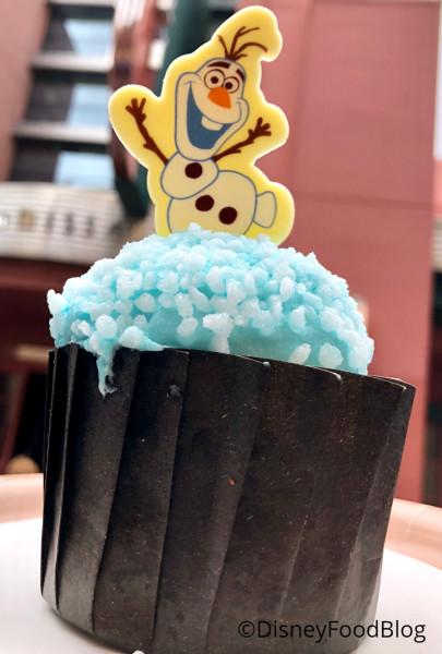 ABC Commissary's Olaf Cupcake