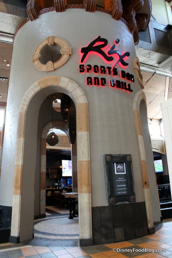 Disney S Coronado Springs Resort Restaurants Rix Sports Bar Grill