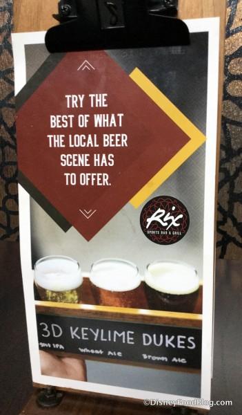 Beer Flight sign