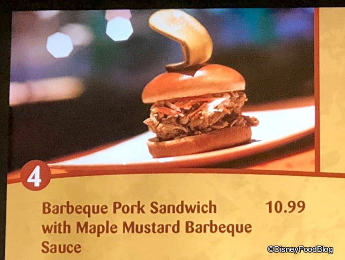 Barbeque Pork Sandwich at Sunshine Seasons