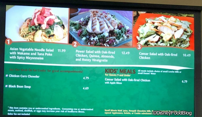 Menu Updates at Sunshine Seasons