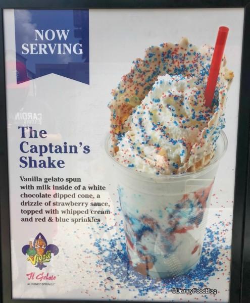 Vivoli Gelato Captain's Shake