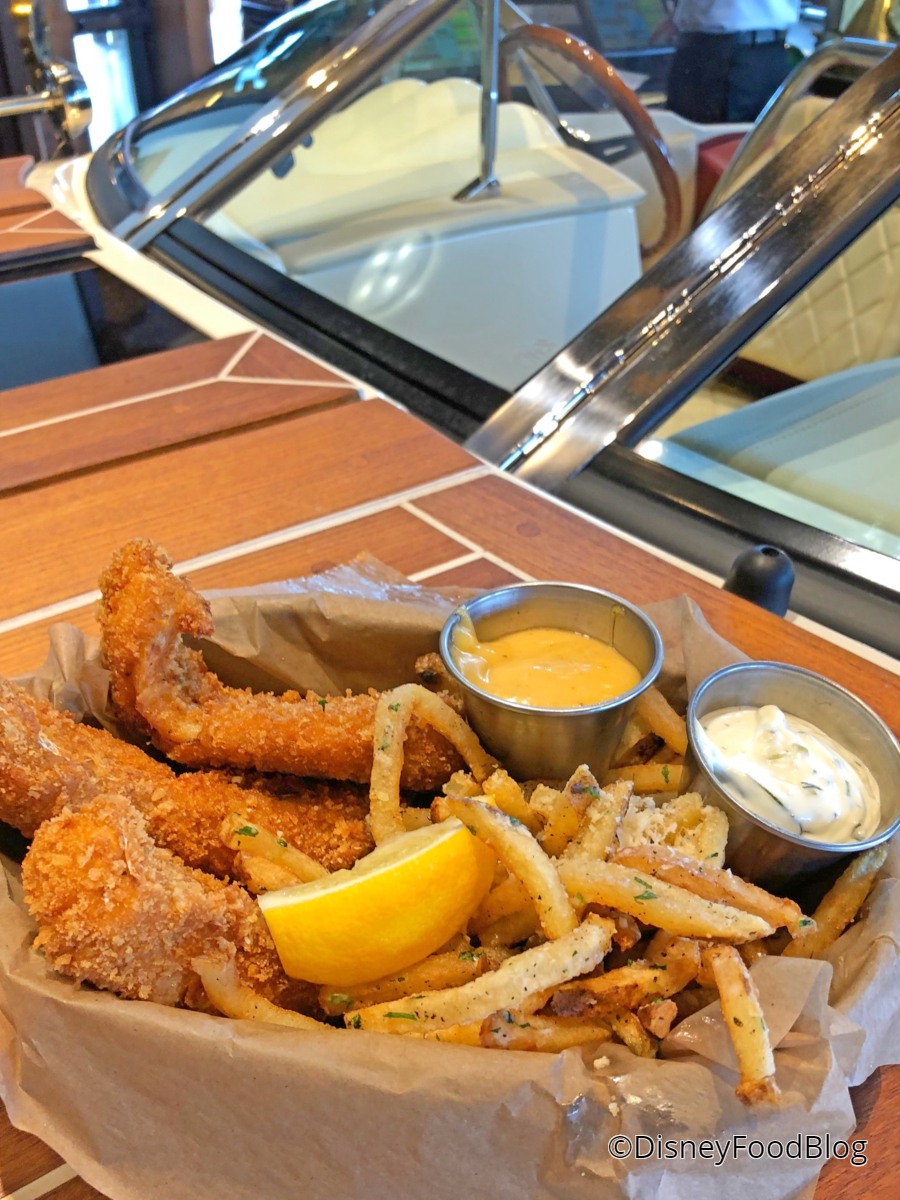 Review the boathouse in disney springs still smooth for Panko fried fish