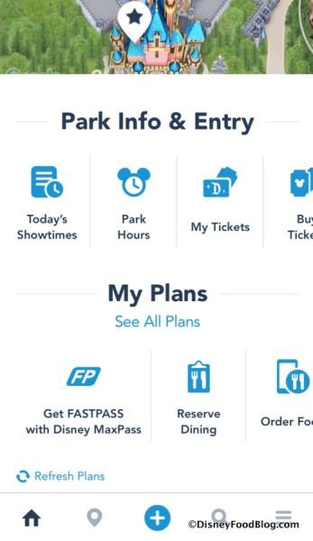 Disneyland app screenshot