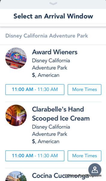 Disneyland Mobile Order screenshot
