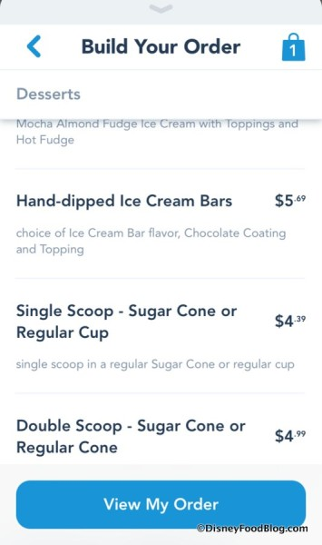 Disneyland Mobile Order screenshot