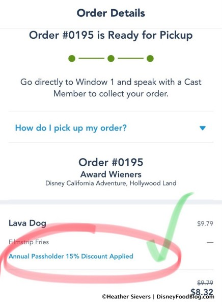 Screenshot of Annual Passholder Discount Applied