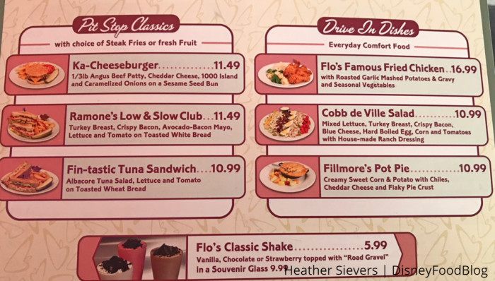 Flo's V8 Cafe New Menu