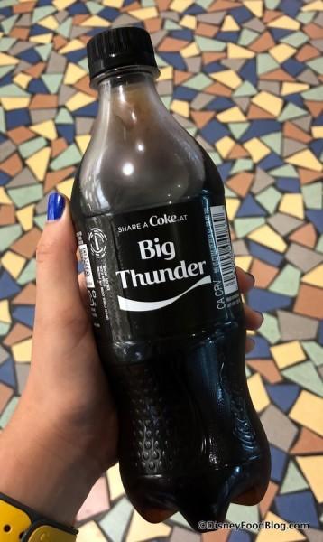 Big Thunder Mountain Coke Zero Sugar Bottle