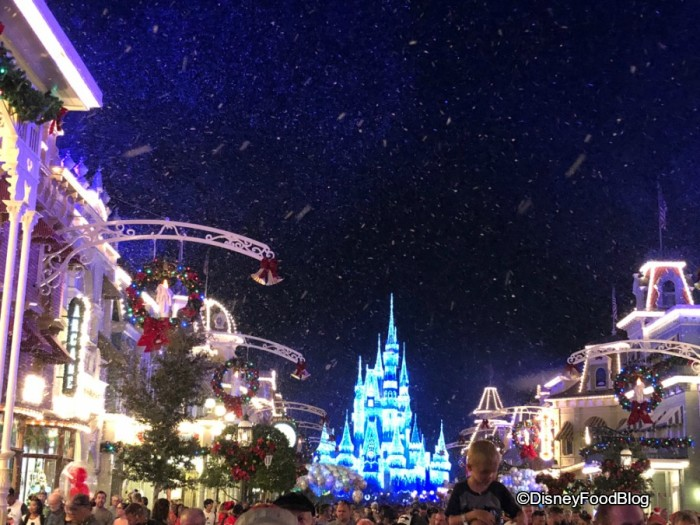 Snow on Main Street, USA!