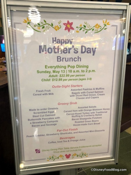 Mother's Day Brunch at Everything Pop!