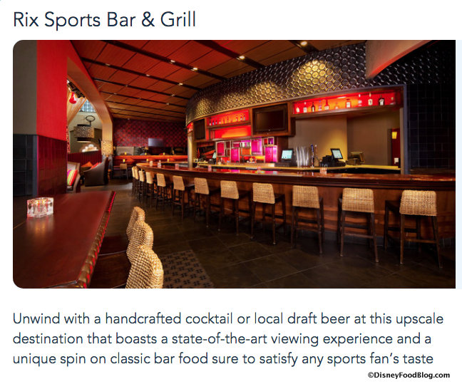 Rix Sports Bar & Grill screenshot
