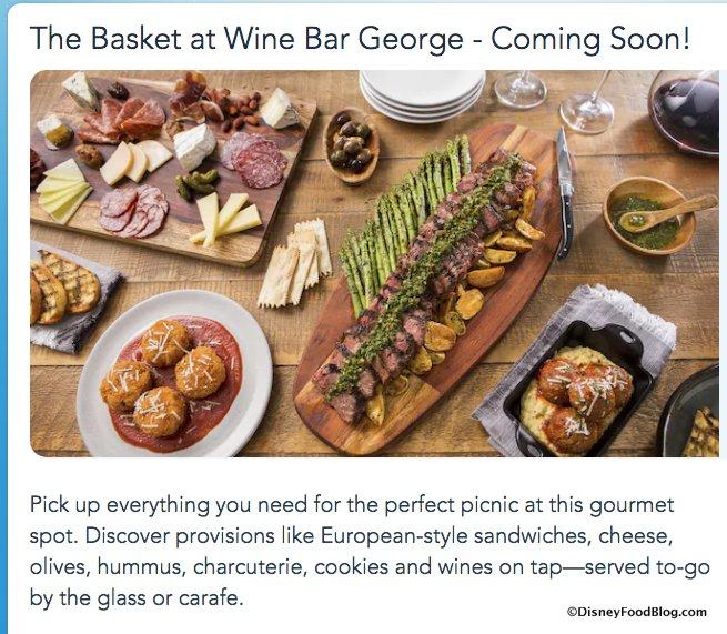 The Basket at Wine Bar George screenshot