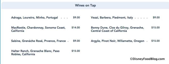 The Basket at Wine Bar George Menu screenshot
