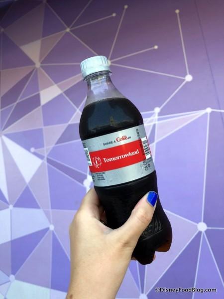Tomorrowland Diet Coke Bottle at the Purple Wall