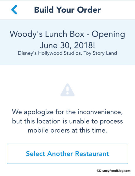 Woody's Lunch Box on Mobile Order screenshot