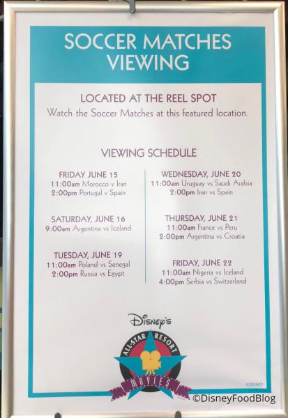 Soccer Match Schedule