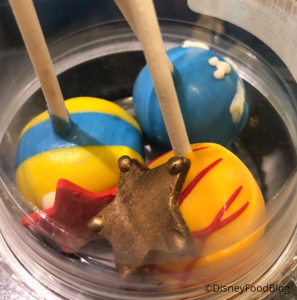 Toy Story Cookie Dough Cake Pops