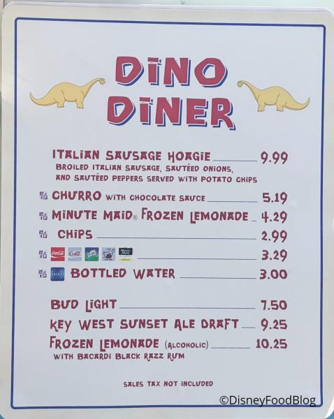 Dino Diner has added an Italian Sausage Hoagie