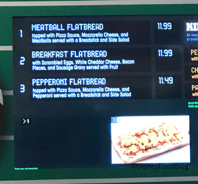 Meatball Flatbread on the Menu at End Zone Food Court