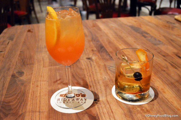 Luciano Spritz and Hazelnut Old Fashioned