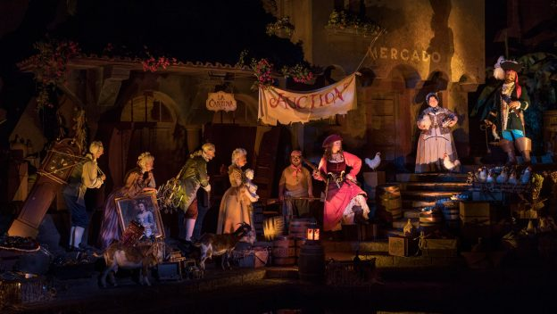 Pirates of the Caribbean Auction Scene ©Disney