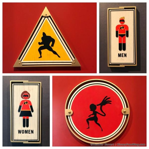 Restroom sign collage
