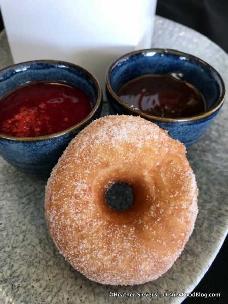 Donuts with Dipping Sauces (AND a Bonus Mickey!)