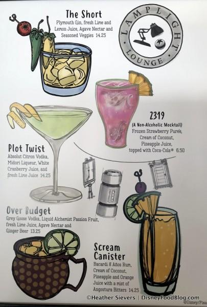 Lamplight Lounge Drink Menu