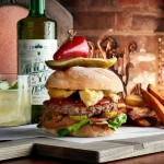 Burger of the Month at The Edison in Disney World: the Electric Garden Burger!