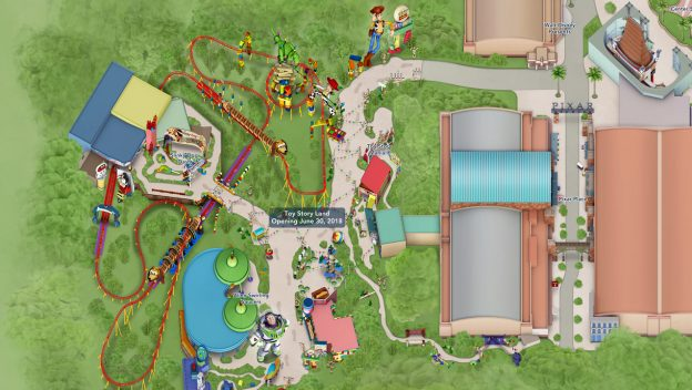 Toy Story Land as seen on My Disney Experience!