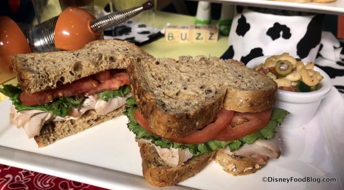 Smoked Turkey, Tomato and Lettuce Sandwich
