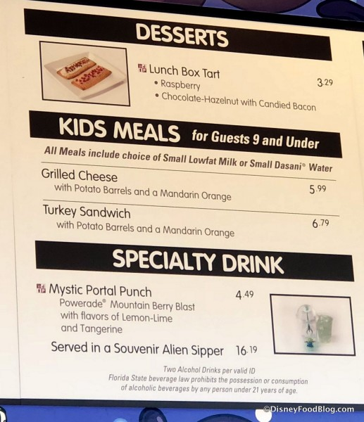 Desserts, Kids Meals, and Specialty Drink Menu