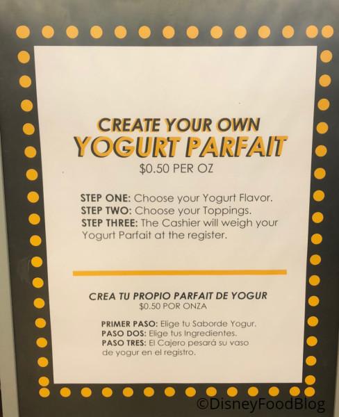 Create Your Own Parfait