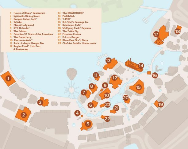 Brews & BBQ Map ©Disney