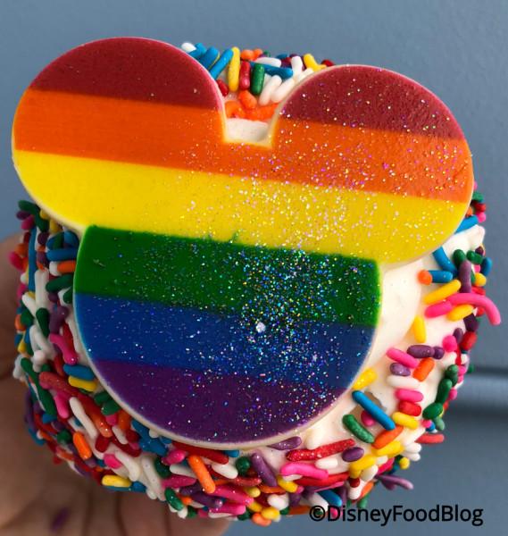 Glittery Rainbow Cupcake