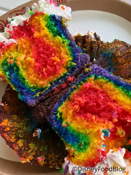 Interior of the Rainbow Cupcake