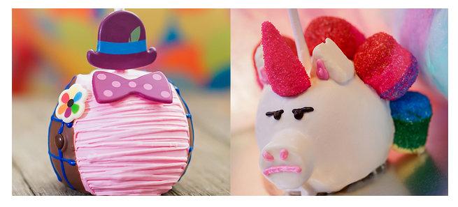 Bing Bong and Rainbow Unicorn Caramel Apples ©Disney