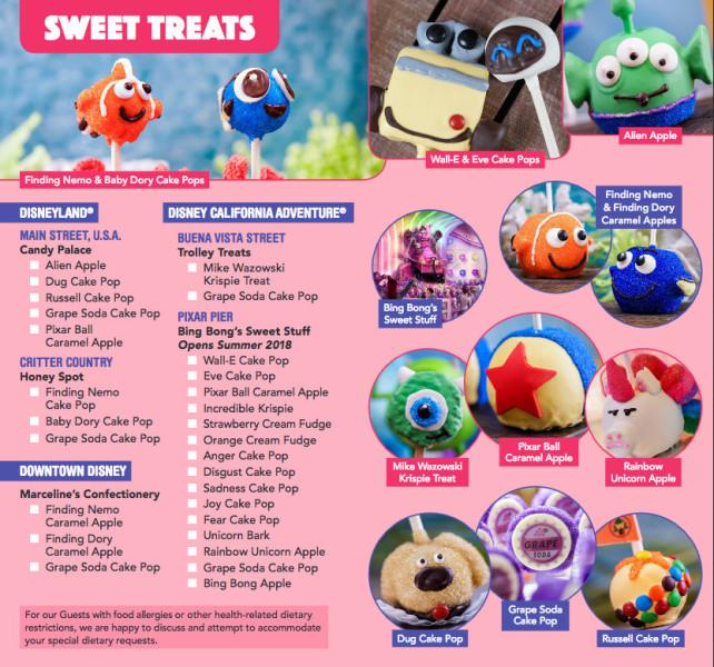 Pixar Fest Food Guide ©Disney