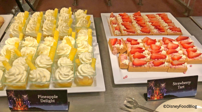 Pineapple Delight and Strawberry Tarts