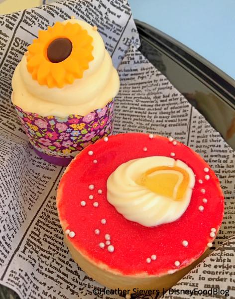 Lemon Honey Cupcake and Meyer Lemon Strawberry Tart