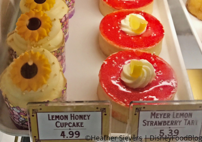 Lemon Honey Cupcake and Meyer Lemon Strawberry Tart