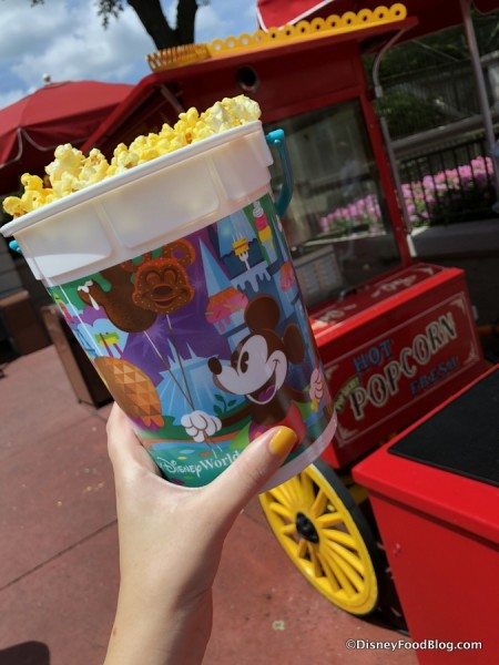 Refillable Popcorn Bucket on Main Street, U.S.A.